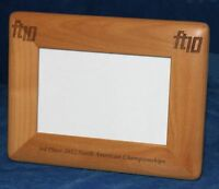 Personalized Laser Engraved 4 x 6 Alder Wood Photo Frame - Round Corners