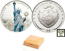 2010 Palau $5 Statue of Liberty Sterling Silver Coin (12754) (OOAK)