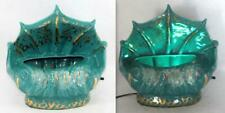 1956 Seashell TV Lamp Sea Green Teal & Gold Accents PREMCO Mfg. Co., Chicago