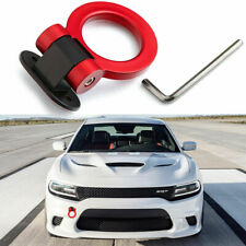 Red JDM Track Racing Sporty Style Tow Hook Ring For Dodge Charger Challenger