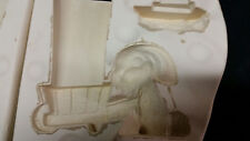 """Nowell NM413"""" bunny with wheel barrow"""" 4x2.5 finished/ ceramic mold from 1978"""