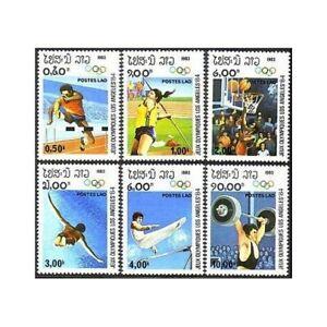 Laos 429-435, MNH. Olympics Los Angeles-1984: Hurdling, Javelin. X33755