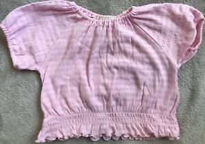NOW Pink Cropped T-Shirt Size 1 VGUC. Combined Post