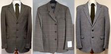 Tweed Button Blazers for Men