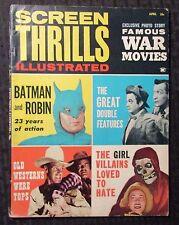 1963 SCREEN THRILLS ILLUSTRATED Magazine v.1 #4 VG 4.0 Batman & Robin