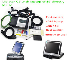 MB STAR C5 SD Connect Wireless ready to use diagnosis full set with CF-19