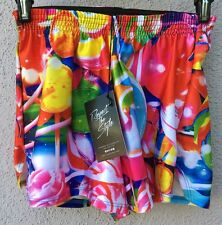 $50 NWT Zara Terez Multi Color Lollipop Candy Shorts Girls Size Large 14