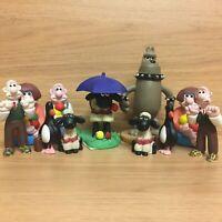Wallace & Gromit Small Figures Figurines Bundle - Preston Feathers Shaun Sheep