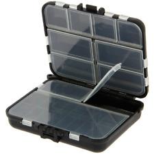 FISHING TACKLE BOX BLACK BIT BOX FOR TERMINAL TACKLE HOOKS CARP WEIGHTS SWIVELS