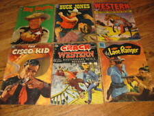 Lot of 6 Golden Age Western Comic Books Crack Western Lone Ranger Buck Jones
