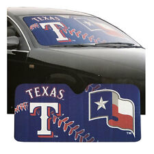 "New MLB Texas Rangers Car Truck Windshield Folding SunShade Large Size 27.5""x58"""