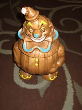 Vintage DeForest Clown Brown Ceramic Cookie Jar *SUPER RARE*