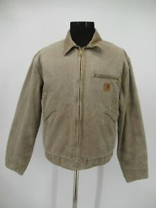 M9585 VTG Carhartt Men's  Blanket Lined Duck Detroit Work Jacket Size L
