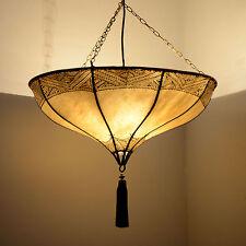 Orientalische Lampe Marokkanische Hennalampe Deckenleuchte Lederlampe LHLR-N