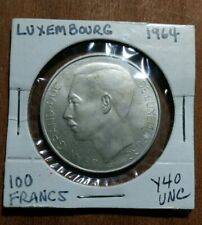 New listing 1964 Luxembourg 100 Francs Unc*Shiny Silver Stacker*