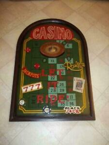 Extremely Rare! Casino Games Roulette Blackjack Poker Old Antique 3D Wall Board