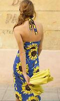 Gorgeous BODEN Halterneck Dress UK Size 8 L *NEW* 8L Sunflower Blue