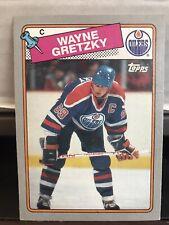 1988/89 TOPPS BOX BOTTOM INSERT WAYNE GRETZKY #B (EXCELLENT CONDITION)