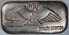"Montana Gold and Silver Corp. ""M"" Eagle 2 oz .999 Fine Silver Poured Bar / Ingot"