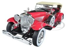 1934 DUESENBERG II SJ RED AND BLACK 1/18 DIECAST MODEL CAR BY GREENLIGHT 12995