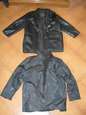 GIACCA PELLE DONNA 46 GIACCONE GIACCHETTO PILE ROVESCIABILE DOUBLE FACE VINTAGE