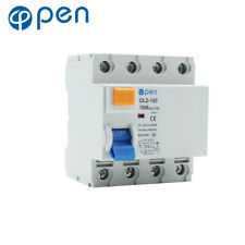4P 40/63/100A Residual Current Circuit Breaker Leakage Short Circuit Protection