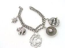 Altes Armband aus Silber - Bettelarmband - mit fünf Anhängern - Silberarmband