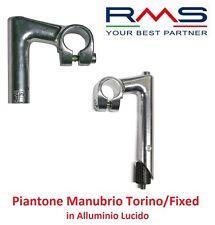 0820 Piega/Piantone Manubrio Torino/Fixed Alluminio per bici 26-28 Corsa Pista