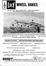 1973 Dealer Print Ad of Edney Dist Co Lely Wheel Rakes Tractor Implement