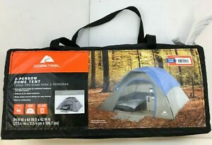 Ozark Trail 3-Person dome Tent 84x84x42 Inch High WT170707-1 0 New
