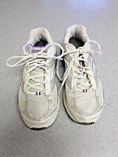 "Brooks ""Addiction 7"" White/Silver/Purple Athletic Shoes. Women's 10 B"