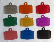 Médaille TONNEAU gravée pour animaux chien moyen et grand - 10 couleurs