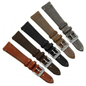 Geckota® Cheswell Vintage Genuine Leather Watch Strap Quick Release Spring Bars