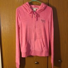 Victoria's Secret PINK Sequin Bling Terry Full Zip Hoodie Small RARE NWT