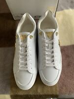 mens sik silk trainers 8 Ghost White
