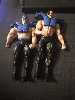 WWE Mattel Battle Pack Blue Pads Road Warriors LOD Hawk Animal figures NICE!