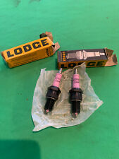 2 Vintage Motorcycle Car Lodge CLNY Spark Plugs Bultaco Daimler Jaguar England