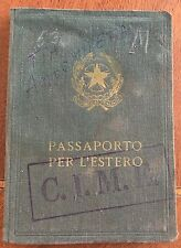 1955 passport Italy (Repubblica Italiana), canceled, expired, with stamps