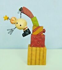 Snowman with star on his head is hanging by one hand -New Blossom Bucket #80585C