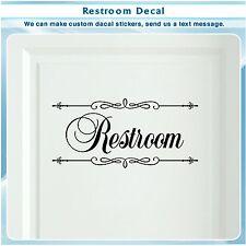 Bathroom Restroom Toilet Door Sign Art Vinyl Home Decor Wall Sticker Decal 150