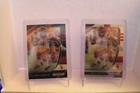 Lot of 2 2020 PRIZM DRAFT FOOTBALL JUJU SMITH-SCHUSTER BLUE and Silver PRIZM SP