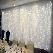 300 LED Wall Wedding Hanging Curtain Window String Fairy Lights White - 3M×3M UK