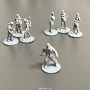 Lot 7x Grey Figures This War Of Mine Board Game Miniatures Role-playing Toys DND