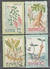 KOREA 1962 used SC#430/33   set, Korean plants.