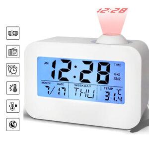 Radiowecker mit Projektion LED Digital dimmbar Tischuhr Alarm DE