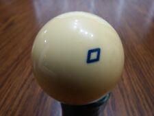 """Belgium CUE BALL NEW OLD VINTAGE BLUE Diamond Billiards Pool 2 1/4 """" Regulation"""