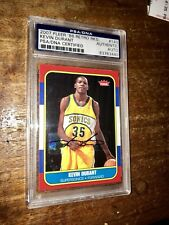 2007-08 Fleer 1986 Retro Kevin Durant ROOKIE RC Signed AUTO PSA/DNA