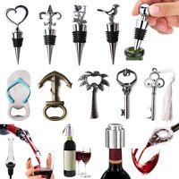 Stainless Steel Vacuum Sealed Red Wine Bottle Stopper Bottle Opener Corkscrews