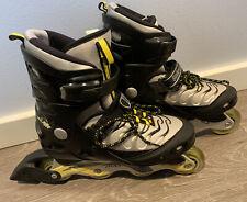 Bladerunner Blaze M Rollerblades Abec3 Inline Skates Mens Sz 9 Black Grey Yellow