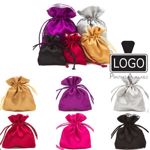 Luxury Fully Lined Satin Jewellery Pouches Bags